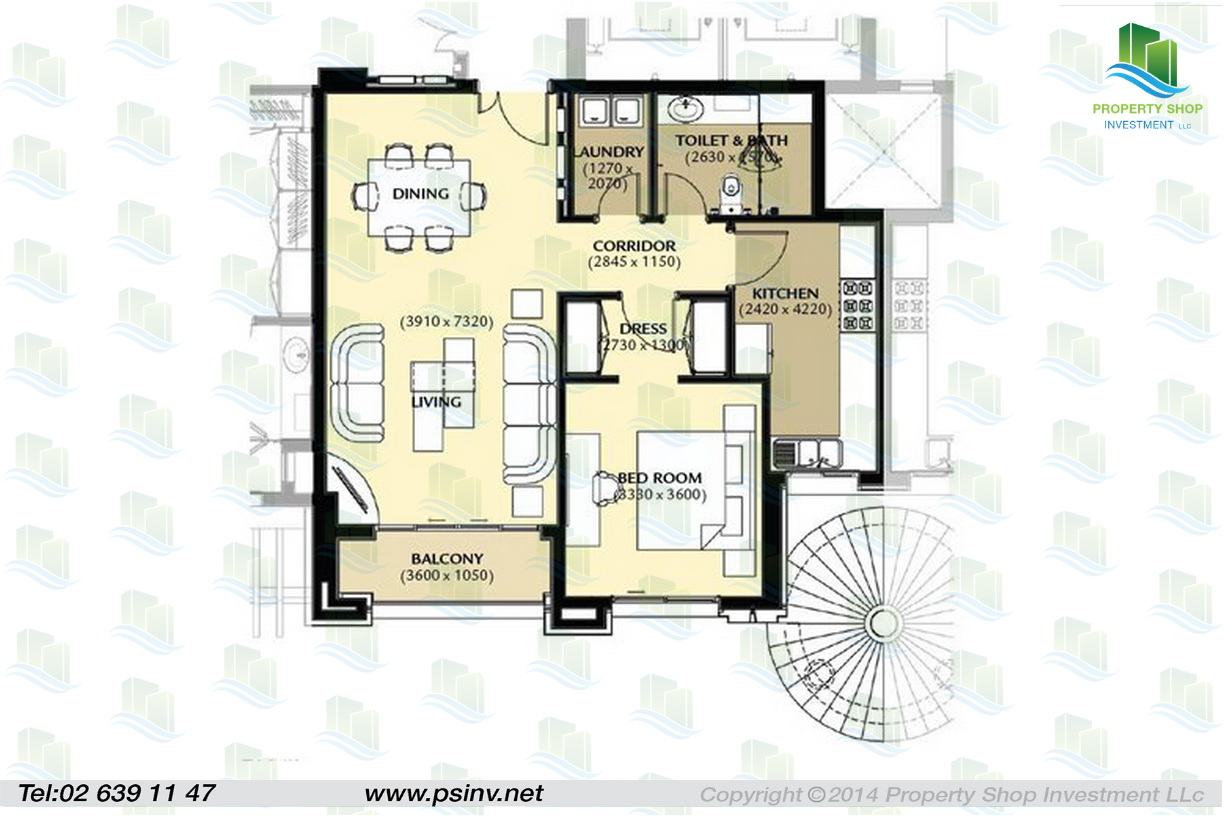 Apartment of al forsan village abu dhabi for Maids quarters house plans