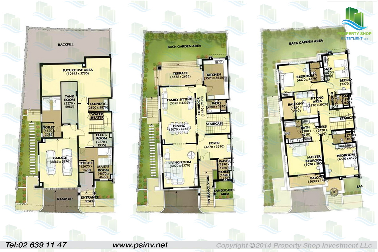 Al forsan village floor plans abu dhabi for 4 bedroom villa plans