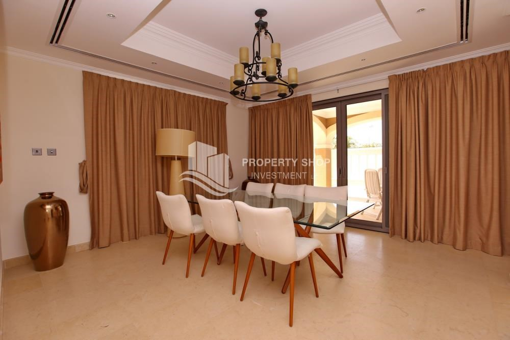 Dining Room - 5Br Villa With Attractive Space, Maid Room & Multiple Terraces .